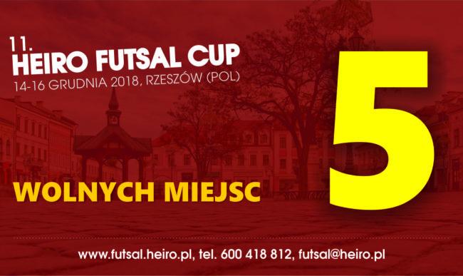 Ostatnie wolne miejsca na Heiro Futsal Cup