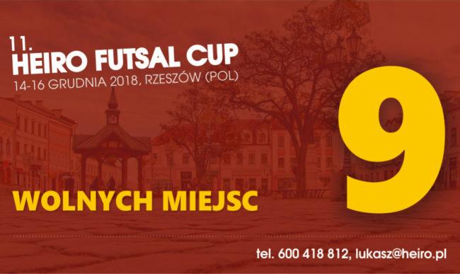 Pozostało tylko 9 wolnych miejsc w Heiro Futsal Cup