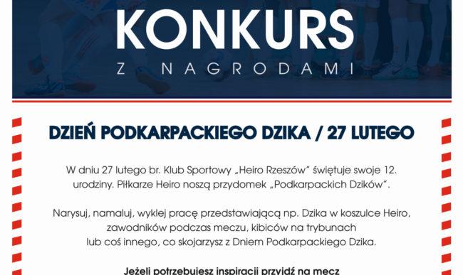 Konkurs plastyczny z okazji 12. urodzin Heiro Rzeszów