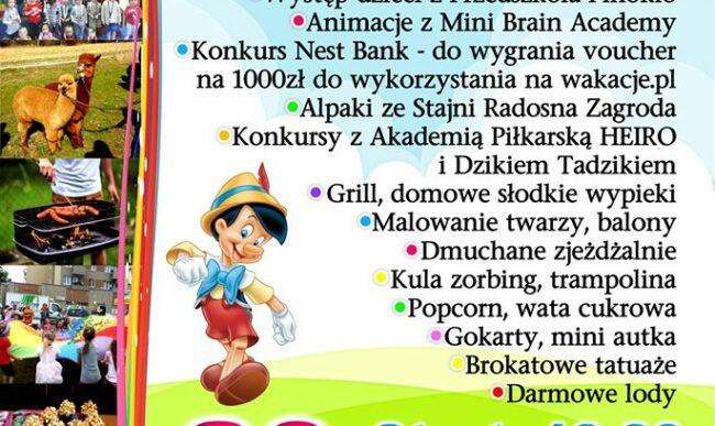 W sobotę piknik z Przedszkolem Pinokio
