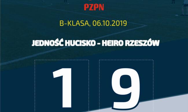 Piłka nożna: Wysoka wygrana w Hucisku. Jedność – Heiro 1-9 (1-6)