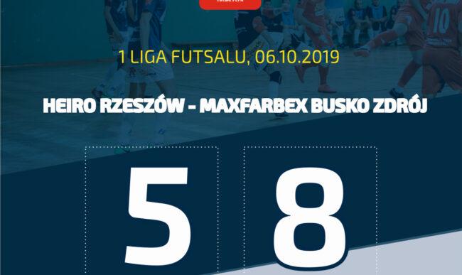 1 liga futsalu: Kolejna porażka. Heiro – Maxfarbex 5-8 (1-2)