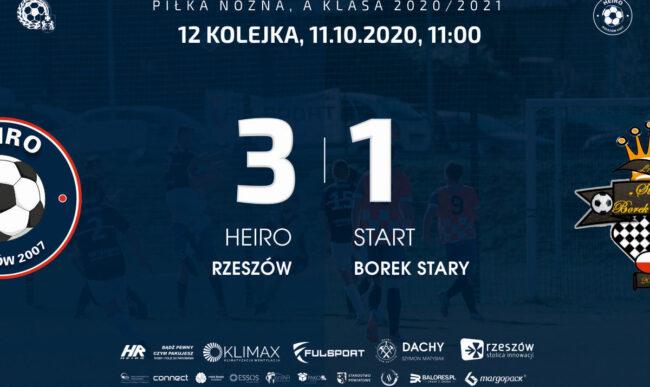 Wygrywamy mecz na szczycie. Heiro – Start Borek Stary 3-1.